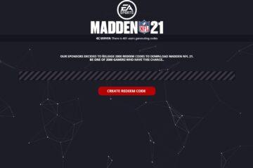 Madden NFL 21 Redeem Code