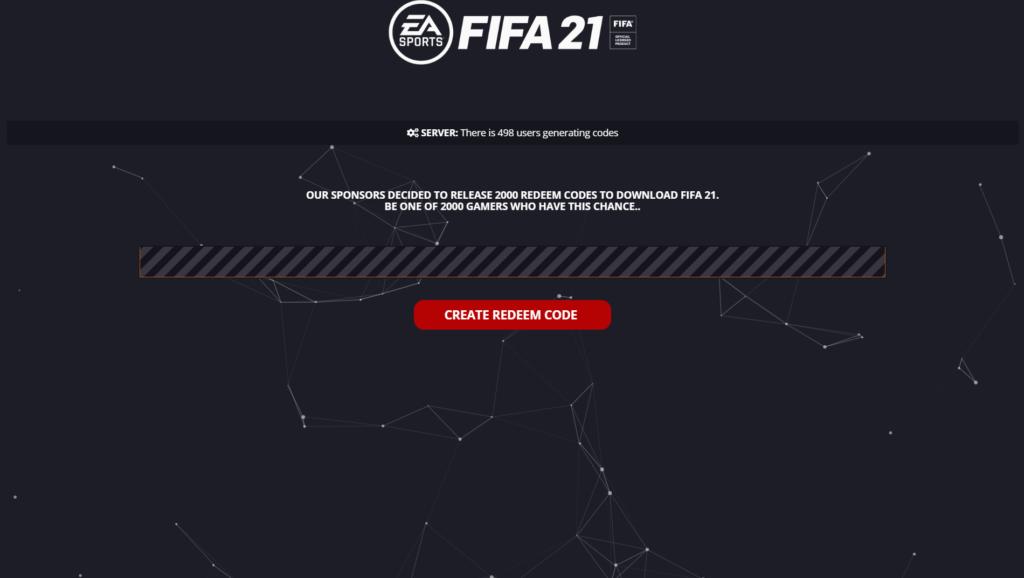 FIFA 21 Redeem Code